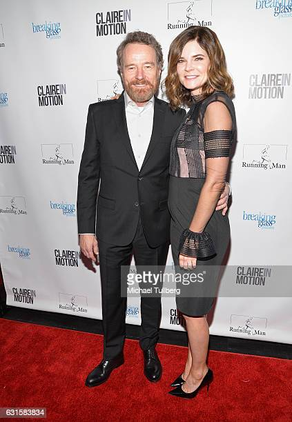 Actors Bryan Cranston and Betsy Brandt attend the premiere Of Breaking Glass Pictures' Claire In Motion at Laemmle Monica Film Center on January 12...