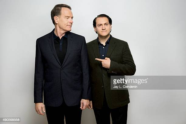 Actors Bryan Cranston and Michael Stuhlbarg from the film Trumbo are photographed for Los Angeles Times on September 25 2015 in Toronto Ontario...