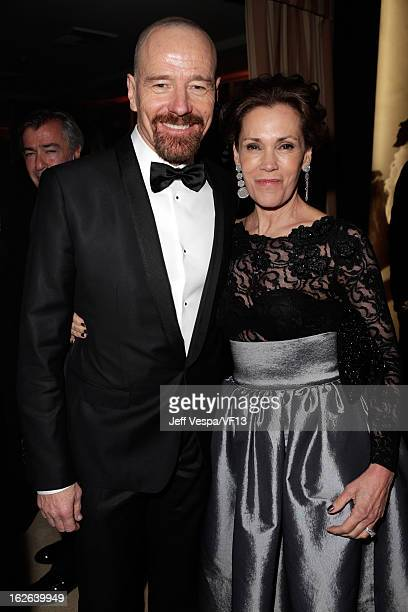 Actors Bryan Cranston and Robin Dearden attend the 2013 Vanity Fair Oscar Party hosted by Graydon Carter at Sunset Tower on February 24 2013 in West...