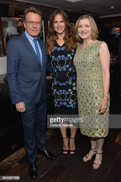 Actors Bryan Cranston Jennifer Garner and director Robin Swicord at the Wakefield TIFF party hosted by GREY GOOSE Vodka and Soho House Toronto on...