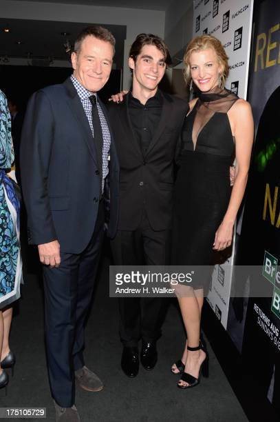 Actors Bryan Cranston RJ Mitte and Anna Gunn attend the 'Breaking Bad' NY Premiere 2013 at The Film Society of Lincoln Center Walter Reade Theatre on...