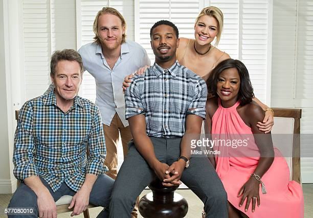 Actors Bryan Cranston Wyatt Russell Michael B Jordan Kelly Rohrbach and Viola Davis pose for a portrait session at the 2016 Maui Film Festival on...