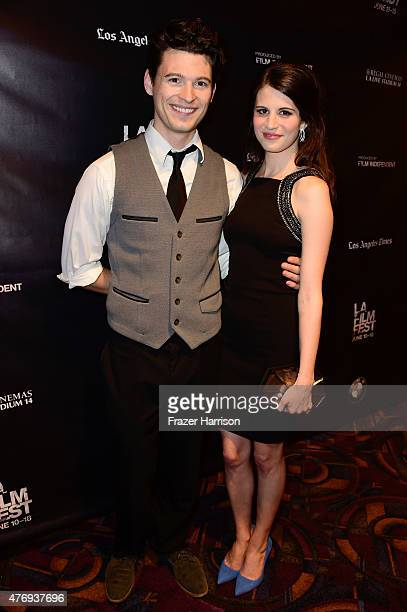 Actors Bryan Dechart and Amelia Rose Blaire attend the 'Caught' screening during the 2015 Los Angeles Film Festival at Regal Cinemas LA Live on June...