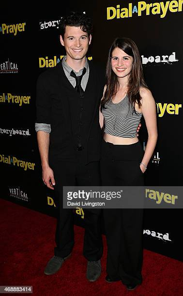 Actors Bryan Dechart and Amelia Rose Blaire attend the premiere of Vertical Entertainment's 'Dial a Prayer' at the Landmark Theater on April 7 2015...