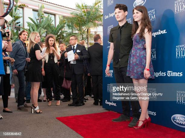 Actors Bryan Dechart 'Beauty and the Beast' and Amelia Rose Blaire 'True Blood' arrive at the 15th annual Newport Beach Film Festival at the Edwards...