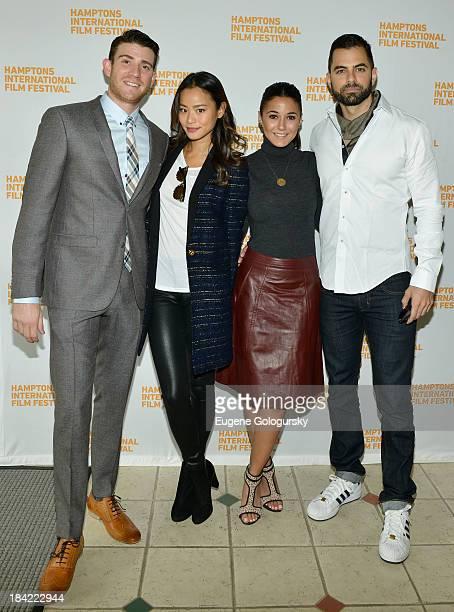Actors Bryan Greenberg Jamie Chung Emmanuelle Chriqui and Adrian Bellani attend the 21st Annual Hamptons International Film Festival on October 12...