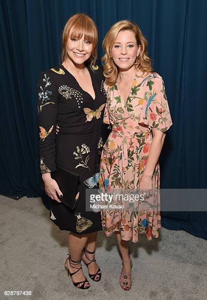 Actors Bryce Dallas Howard and Elizabeth Banks attend 2016 March of Dimes Celebration of Babies at the Beverly Wilshire Four Seasons Hotel on...