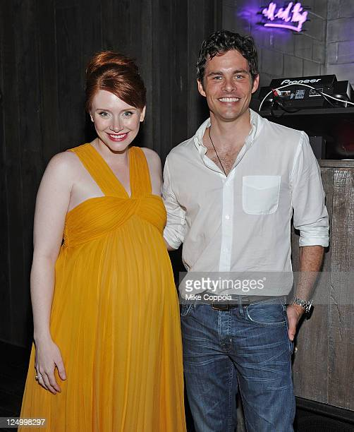 Actors Bryce Dallas Howard and James Marsden attend the after party for the Cinema Society with Dior Homme GQ screening of Restless at the Electric...
