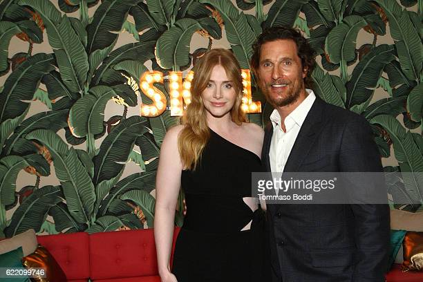 Actors Bryce Dallas Howard and Matthew McConaughey attend the TWCDimension celebrates the Cast and Filmmakers of Gold at the private residence of...
