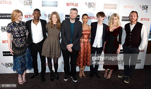 Actors Bryce Dallas Howard Malachi Kirby producers Annabel Jones Charlie Brooker and actors Gugu MbathaRaw Alex Lawther Alice Eve and Jerome Flynn...