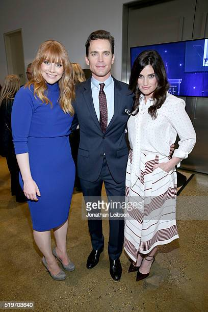 Actors Bryce Dallas Howard Matt Bomer and Idina Menzel attend the 5th Annual Reel Stories Real Lives event benefiting MPTF at Milk Studios on April 7...