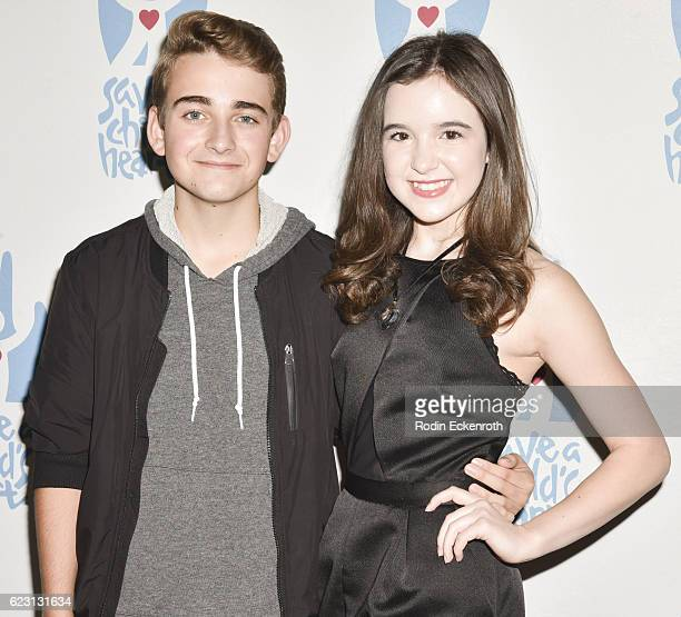Actors Buddy Handleson and Aubrey Miller arrive at the 3rd Annual Save A Child's Heart Gala at Sony Studios Commissary on November 13 2016 in Culver...
