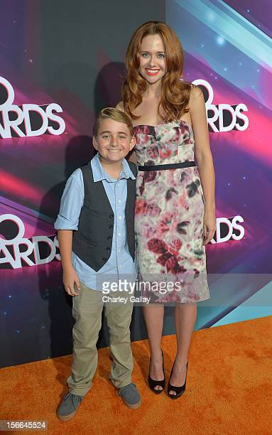 Actors Buddy Handleson and Haley Strode arrive at Nickelodeon's 2012 TeenNick HALO Awards at Hollywood Palladium on November 17, 2012 in Hollywood,...