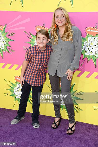 Actors Buddy Handleson and Nicole Sullivan arrive at Nickelodeon's 26th Annual Kids' Choice Awards at USC Galen Center on March 23 2013 in Los...