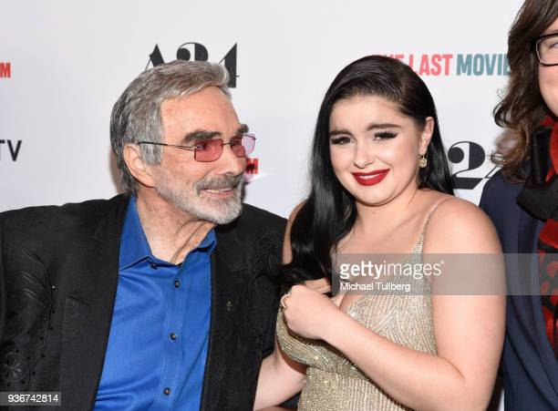 Actors Burt Reynolds and Ariel Winter attend the Los Angeles premiere of The Last Movie Star at the Egyptian Theatre on March 22 2018 in Hollywood...