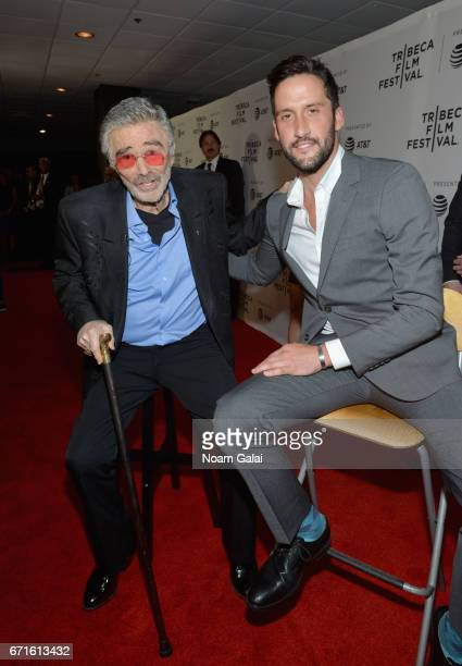 Actors Burt Reynolds and Juston Street attends the Dog Years Premiere during 2017 Tribeca Film Festival at Cinepolis Chelsea on April 22 2017 in New...