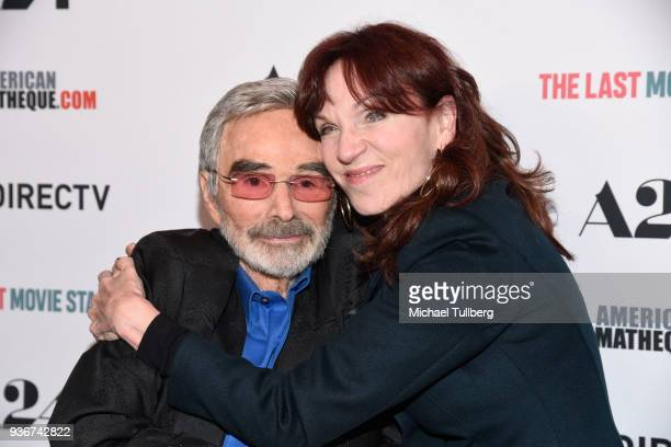 Actors Burt Reynolds and Marilu Henner attend the Los Angeles premiere of 'The Last Movie Star' at the Egyptian Theatre on March 22 2018 in Hollywood...