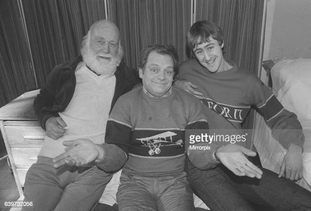 Actors Buster Merryfield David Jason and Nicholas Lyndhurst who all star together in the smash TV comedy series Only Fools And Horses February 1985