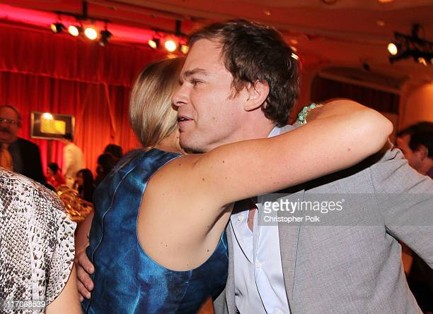 Actors Busy Philipps and Michael C Hall attend the Critics' Choice Television Awards at Beverly Hills Hotel on June 20 2011 in Beverly Hills...