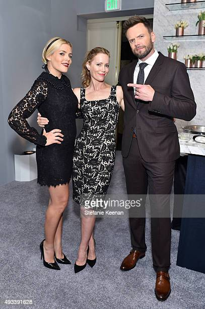 Actors Busy Philipps Leslie Mann and host Joel McHale attend the 22nd Annual ELLE Women in Hollywood Awards presented by Calvin Klein Collection...