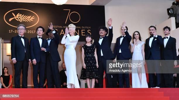 Actors Byung Heebong Giancarlo Esposito Steven Yeun Tilda Swinton Ahn SeoHyun director Bong JoonHo actors Paul Dano Lily Collins Jake Gyllenhaal and...