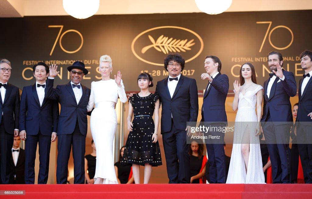 """""""Okja"""" Red Carpet Arrivals - The 70th Annual Cannes Film Festival : Foto jornalística"""