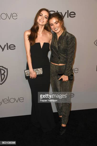 Actors Caitlin Carver and Haley Lu Richardson attend 19th Annual PostGolden Globes Party hosted by Warner Bros Pictures and InStyle at The Beverly...