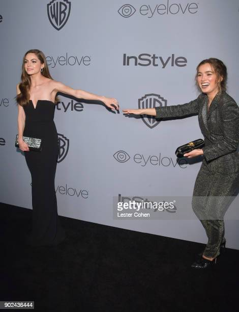 Actors Caitlin Carver and Haley Lu Richardson attend the 19th Annual PostGolden Globes Party hosted by Warner Bros Pictures and InStyle at The...