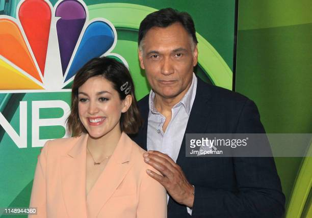 Actors Caitlin McGee and Jimmy Smits attend the NBC 2019/20 Upfront at Four Seasons Hotel New York on May 13 2019 in New York City