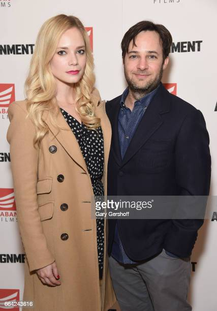Actors Caitlin Mehner and Danny Strong attend 'The Assignment' New York screening at the Whitby Hotel on April 3 2017 in New York City