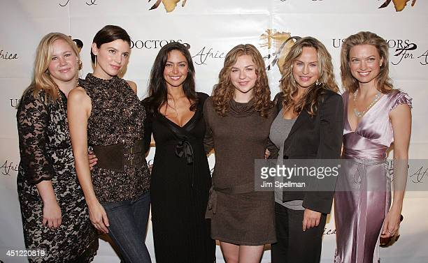 Actors Caitlin Van Zandt Michelle Ray Smith Jessica Leccia Bonnie Dennison Crystal Chappell and Nicole Forester arrive at 1st Annual US Doctors for...