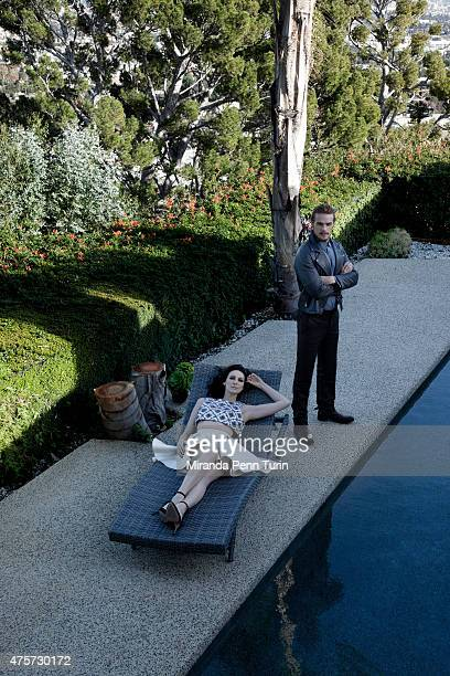 Actors Caitriona Balfe and Sam Heughan are photographed for Emmy Magazine on February 4 2015 in Los Angeles California PUBLISHED IMAGE