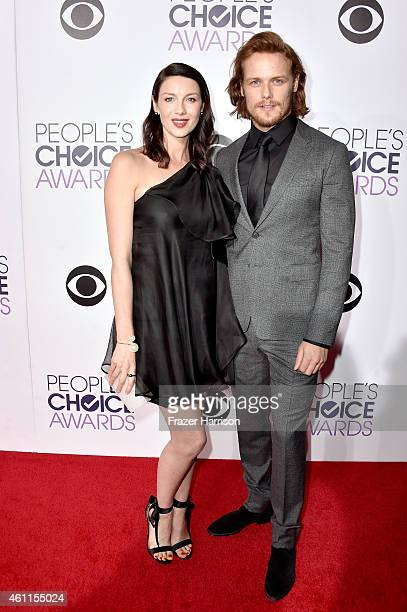 Actors Caitriona Balfe and Sam Heughan attend The 41st Annual People's Choice Awards at Nokia Theatre LA Live on January 7 2015 in Los Angeles...