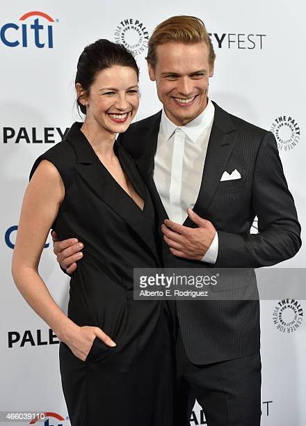 Actors Caitriona Balfe and Sam Heughan attend The Paley Center for Media's 32nd Annual PALEYFEST LA Outlander at Dolby Theatre on March 12 2015 in...