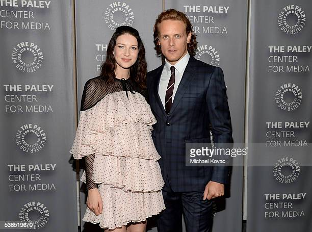 Actors Caitriona Balfe and Sam Heughan attend The Paley Center for Media presents The Artistry of 'Outlander' at The Paley Center for Media on June 6...