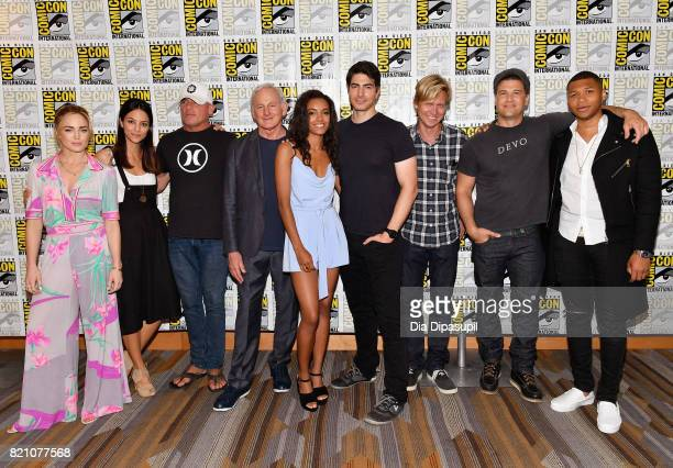 Actors Caity Lotz Tala Ashe Dominic Purcell Victor Garber Ciara Renée Brandon Routh producer/writer Phil Klemmer actors Nick Zano and Franz Drameh...