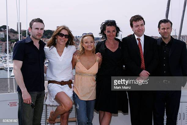 Actors Cal Macaninch Sara Stockbridge Lucy Davis director Mary McGuckian actor John Sessions and Rupert Graves attend a photocall promoting the film...
