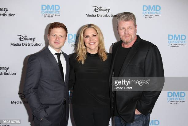 Actors Caleb Foote Mary McCormack and Michael Cudlitz attend the Disney/ABC International Upfronts at the Walt Disney Studio Lot on May 20 2018 in...