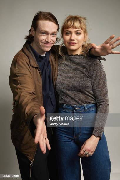 Actors Caleb Landry Jones and Imogen Poots from the film 'Friday's Child' poses for a portrait in the Getty Images Portrait Studio Powered by Pizza...