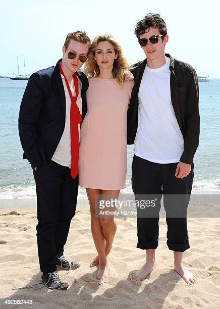 Actors Caleb Landry Jones Tamsin Egerton and Callum Turner attend the 'Queen Country' photocall at the 67th Annual Cannes Film Festival on May 21...