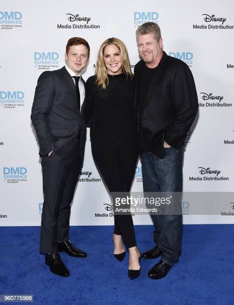 Actors Caleb Martin Foote Mary McCormack and Michael Cudlitz arrive at the Disney/ABC International Upfronts at the Walt Disney Studio Lot on May 20...