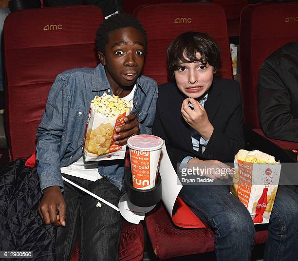 Actors Caleb McLaughlin and Finn Wolfhard attend the 'Shin Godzilla' premiere presented by Funimation Films at AMC Empire 25n2016 New York Comic Con...