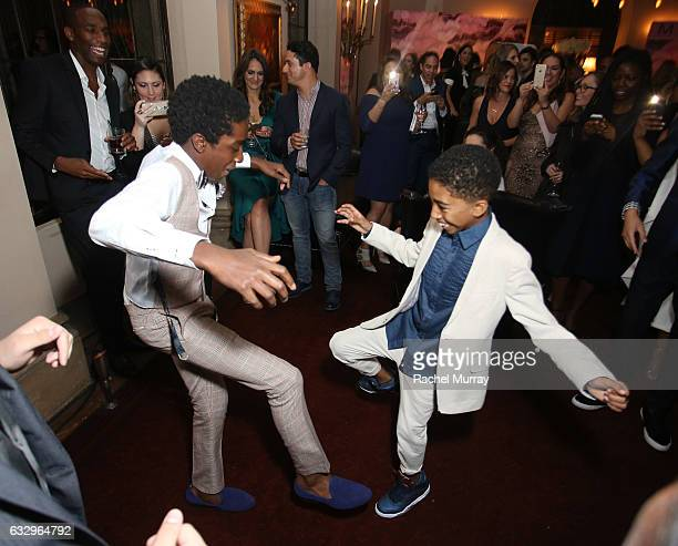 Actors Caleb McLaughlin and Miles Brown attend the Entertainment Weekly Celebration of SAG Award Nominees sponsored by Maybelline New York at Chateau...
