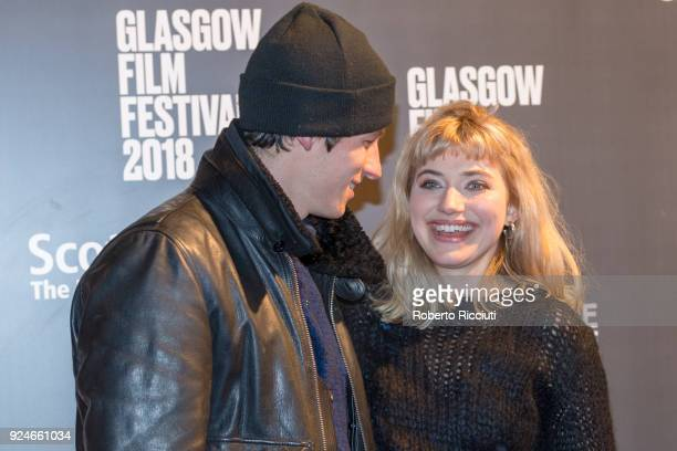 Actors Callum Turner and Imogen Poots attend the UK Premiere of 'Mobile Homes' during the 14th Glasgow Film Festival at Glasgow Film Theatre on...