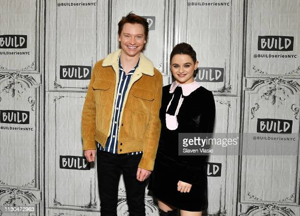 Actors Calum Worthy and Joey King visit Build Series to discuss Hulu's The Act at Build Studio on March 14 2019 in New York City