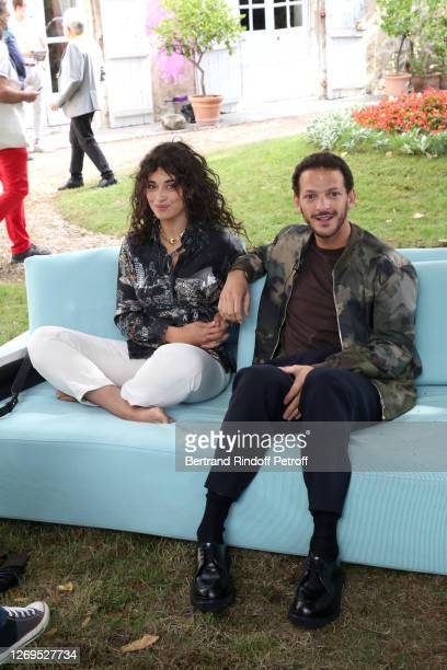 """Actors Camelia Jordana and Vincent Dedienne attend the """"Parents D'Eleves"""" Photocall at 13th Angouleme French-Speaking Film Festival on August 29,..."""