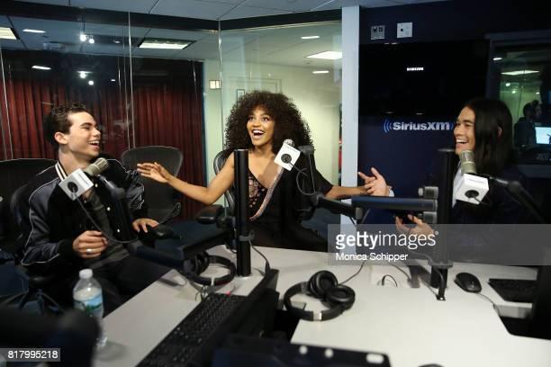 Actors Cameron Boyce China Anne McClain and Booboo Stewart visit SiriusXM Studios on July 18 2017 in New York City