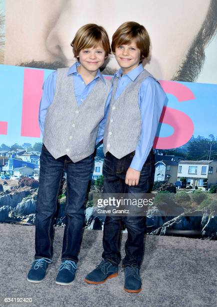 Actors Cameron Crovetti and Nicholas Crovetti attend the premiere of HBO's Big Little Lies at TCL Chinese Theatre on February 7 2017 in Hollywood...