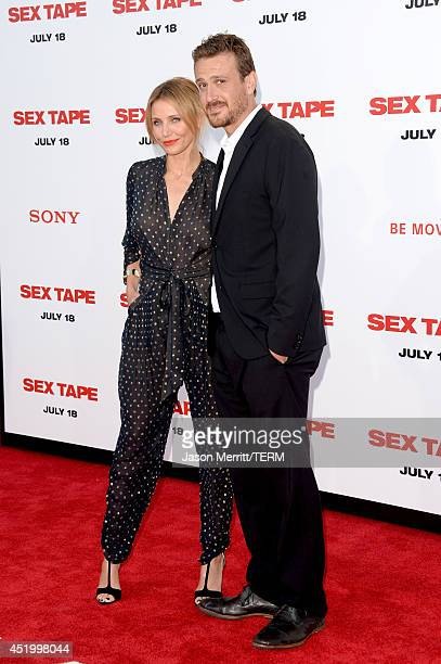 Actors Cameron Diaz and Jason Segel attend premiere of Columbia Pictures' Sex Tape at Regency Village Theatre on July 10 2014 in Westwood California