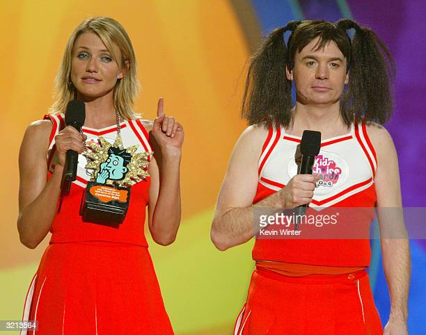 Actors Cameron Diaz and Mike Myers host Nickelodeon's 17th Annual Kids' Choice Awards at Pauley Pavilion on the campus of UCLA April 3 2004 in...